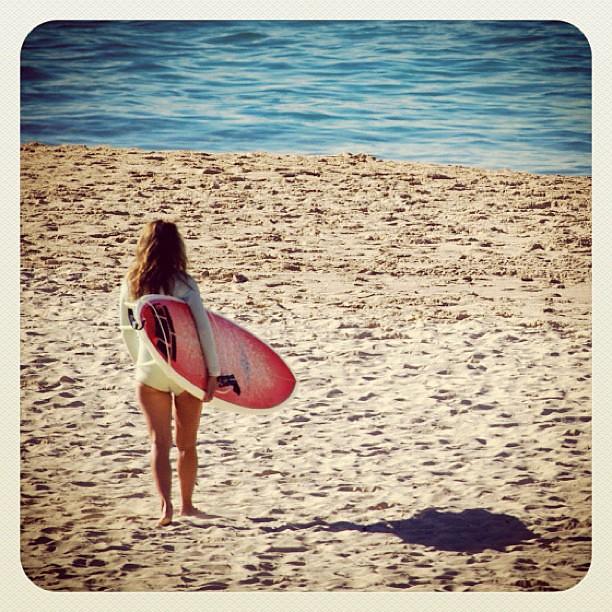 To the waves at Bondi #surf #atbondi #bondi #beach #surfer #girl #board #sand #sydney #seeaustralia