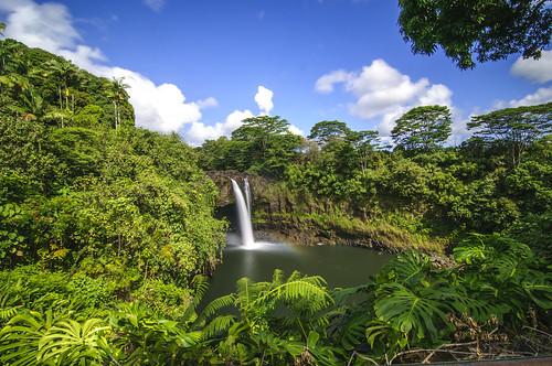 longexposure arcoiris landscape hawaii waterfall rainbow day paisaje falls bigisland hilo cascada rainbowfalls largaexposición pwpartlycloudy