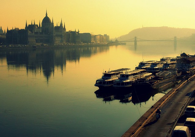Budapest by the mirror river