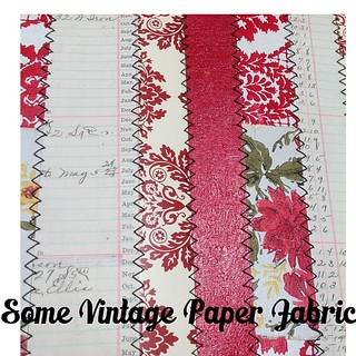 This paper fabric is done with almost all vintage paper/wallpaper for #sewnclass #rhonnadesigns