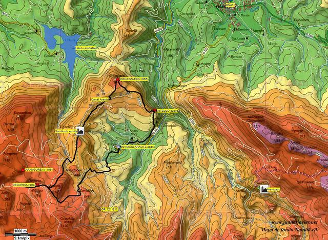 AIZKORRI raizk021 mapa 05 acceso NONDIK Aranzadi valles Degurixa y Araotz
