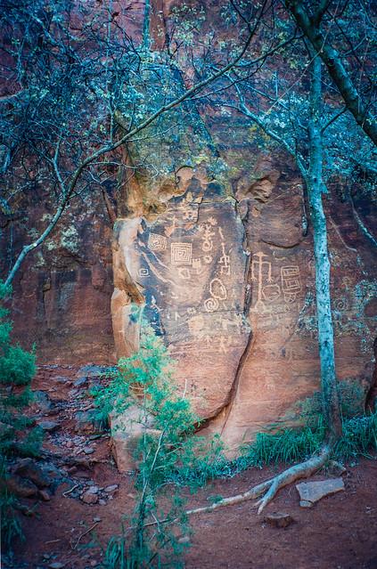 Petroglyphs, V-Bar-V Ranch