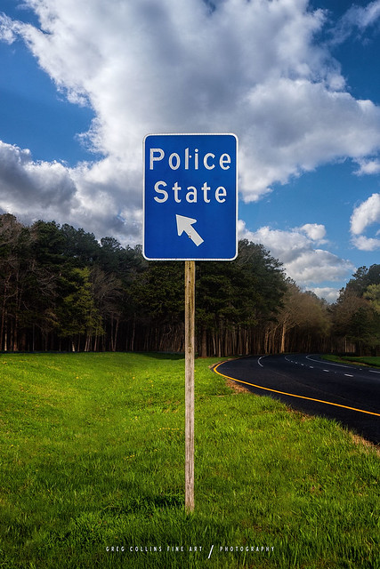 Police State Road Sign