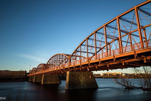 ouellettebridge lowell merrimackriver massachusetts river bridge mills newengland 6d bigstopper longexposure sunrise leefilters