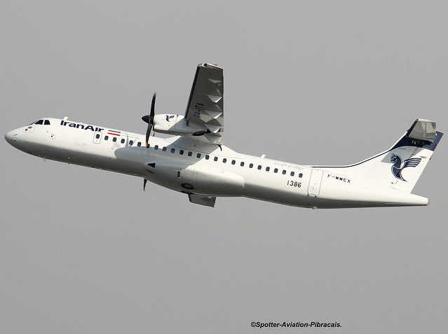Iran Air. FIRST ATR 72-600 FOR THE COMPANY.
