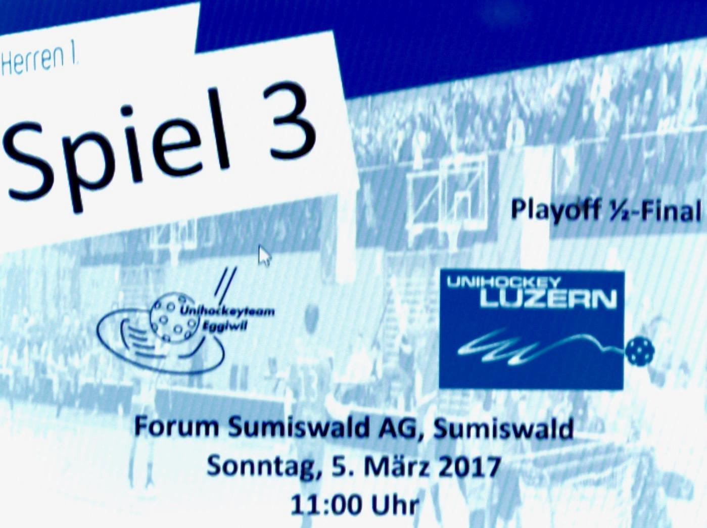 Herren I - Unihockey Luzern Halbfinal Spiel III Saison 2016/17