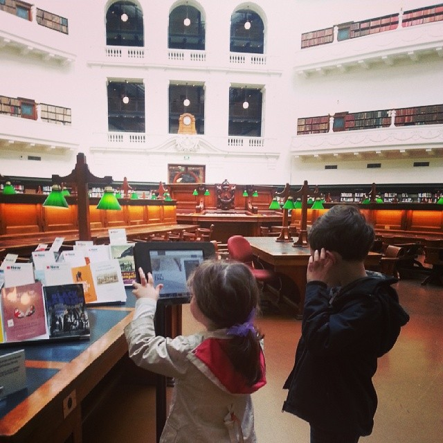 In the Domed Reading Room #melbourne #SLV #curriculumday