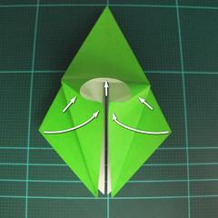 วิธีพับกระดาษเป็นจรวด X-WING สตาร์วอร์ (Origami X-WING) 016