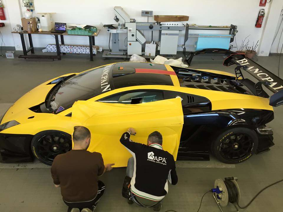 Lamborghini Car Wrapping Interior Design Matteo Wrappin Flickr