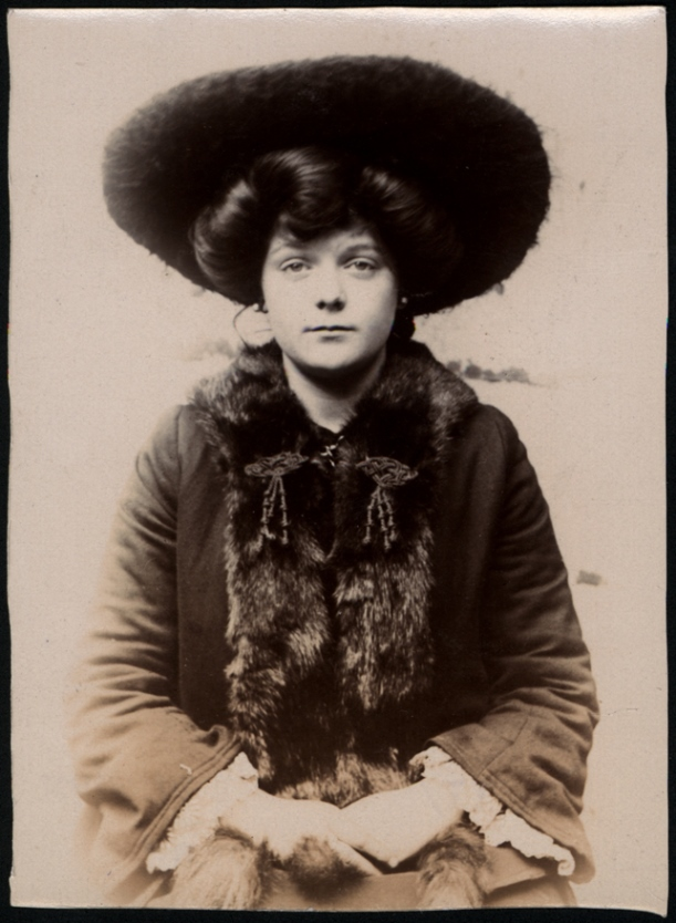 Maud M. Garmey, domestic servant, arrested for theft