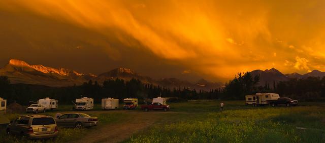 Campground Sunset Glacier N.P. Montana