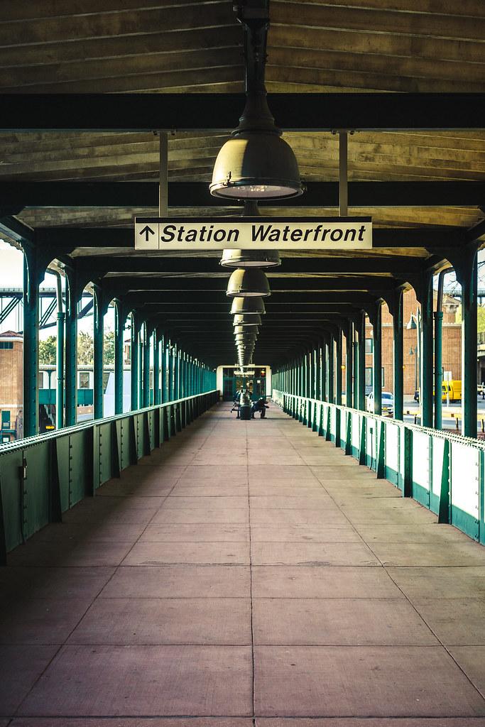 Exterior: A Man Waits At The Poughkeepsie Train Station
