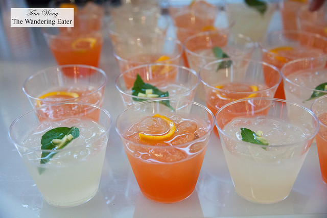 The Definiition of Handsome (pink drink) and Thai Basil Mules by Sanatorium