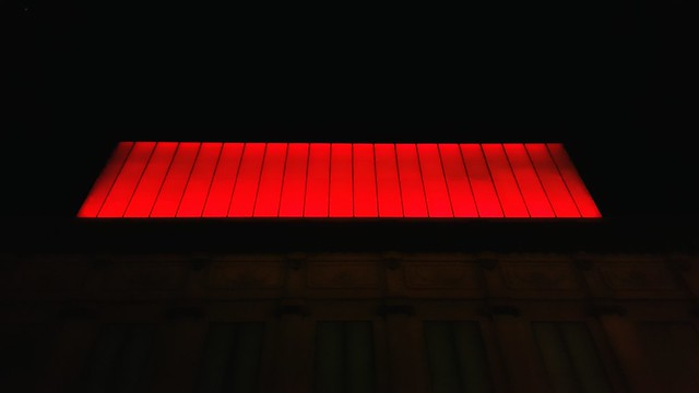 Red lights! There's show at the theatre tonight.
