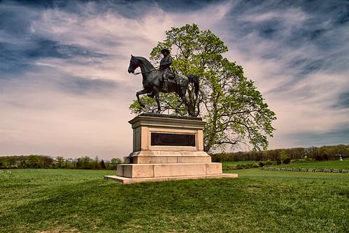 gettysburg anniversary generaljohnfreynolds history battlefield monument hdr landscape statue sculpture horse unitedstates union civilwar