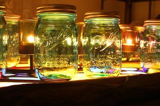 Blue Mason Jars & A Stained Glass | by LuAnn Snawder Photography