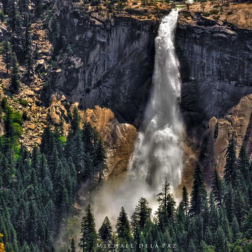 california usa nature water spectacular landmark falls waterfalls yosemite yosemitenationalpark cascade johnmuir glacierpoint nevadafalls flickrandroidapp:filter=none