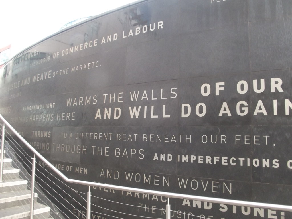 Spiceal Street, Bullring - water feature with quotes -