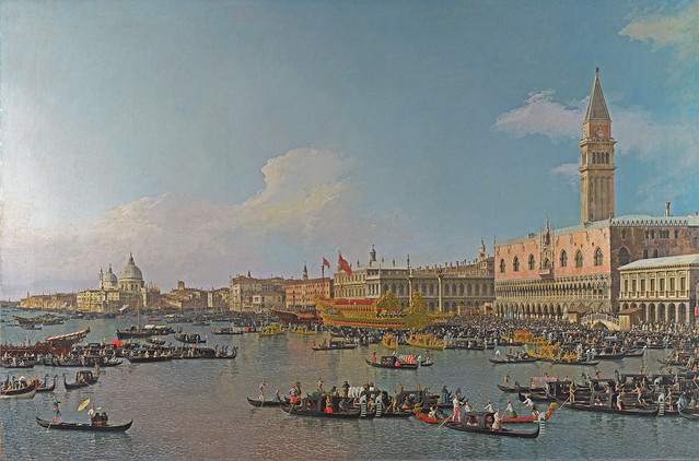Canaletto - The Basin of San Marco on Ascension Day