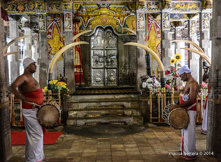 Sri Lanka. Kandy. Sacred Temple of the Tooth Relic. Sri Dalada Maligawa.