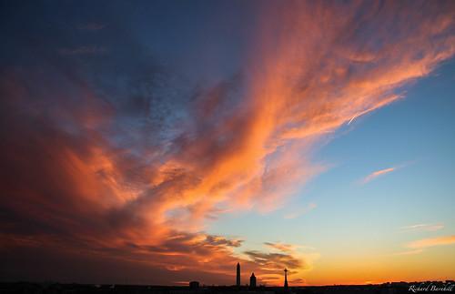 city winter sunset sky orange sun cold monument nature clouds landscape landscapes dc washington twilight cityscape