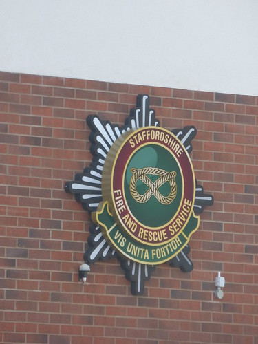 Burton Community Fire Station - Moor Street, Burton upon Trent - Staffordshire Fire and Rescue Service emblem | by ell brown