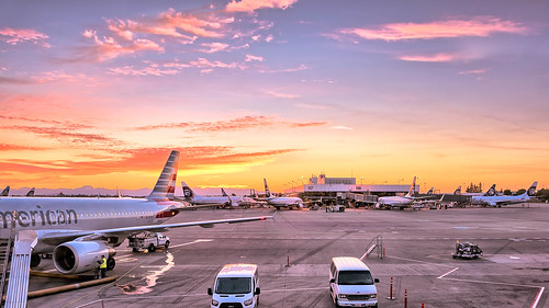 Sun Setting at Seattle Airport | by jody.claborn