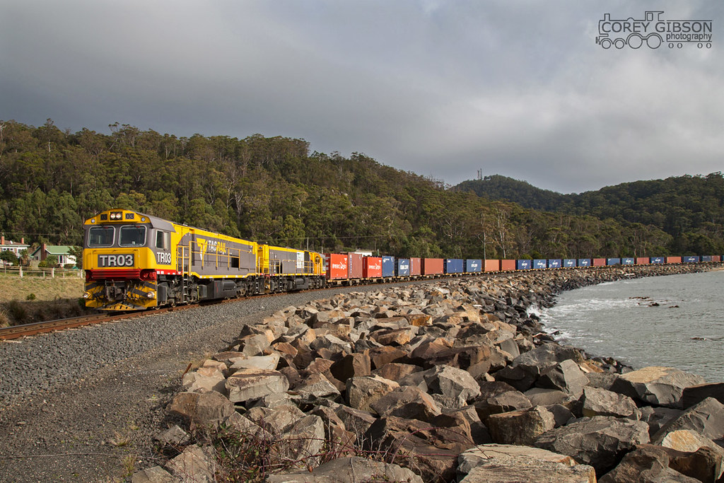 Tasrail TR03 & TR02 with the #431 freight by Corey Gibson