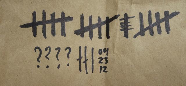 daily cigarette count (2013)