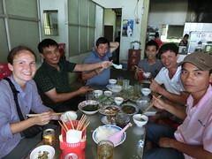 Essen mit den Busfahrern - Vinh