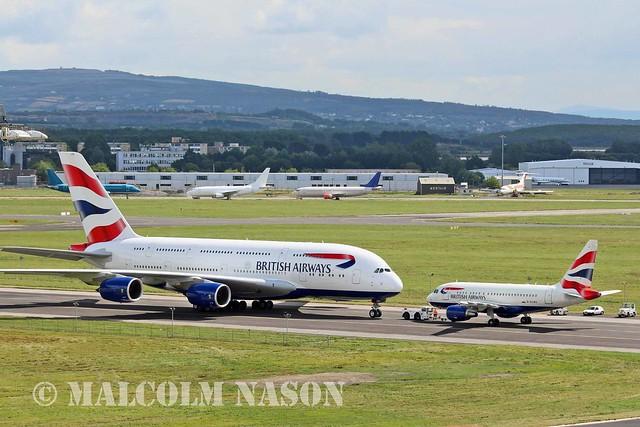 A380\A318 G-XLEA\G-EUNA BRITISH AIRWAYS