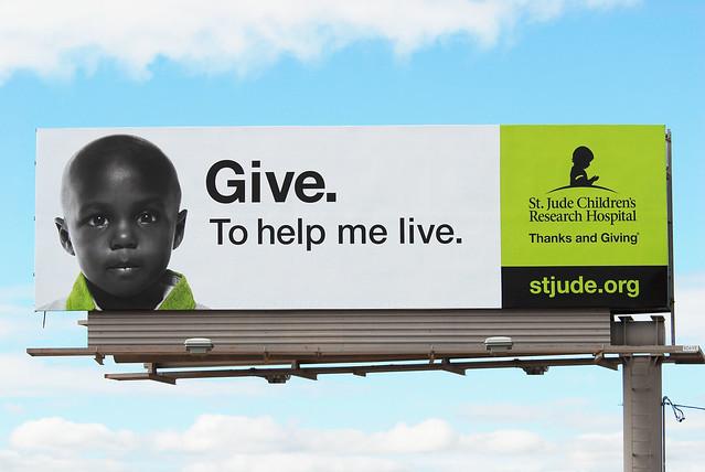 St. Jude Children's Research Hospital billboard - Santan Freeway Loop 202, Chandler, AZ