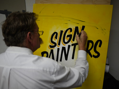 Sign Painting workshop with Mike Meyer, Berlin | by anatoletype