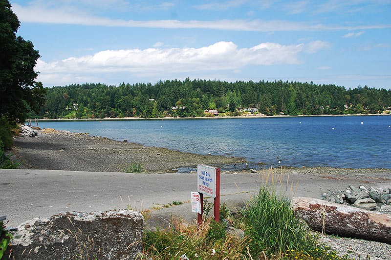 Boat Launch in Mill Bay, Vancouver Island, British Columbia, Canada