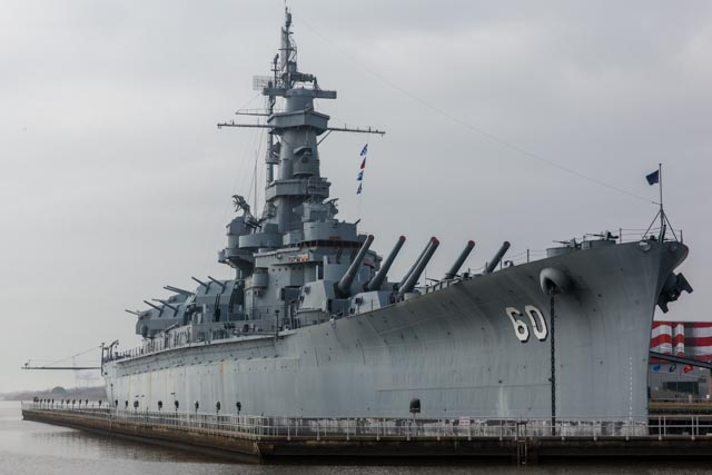 Cool view of the USS Alabama