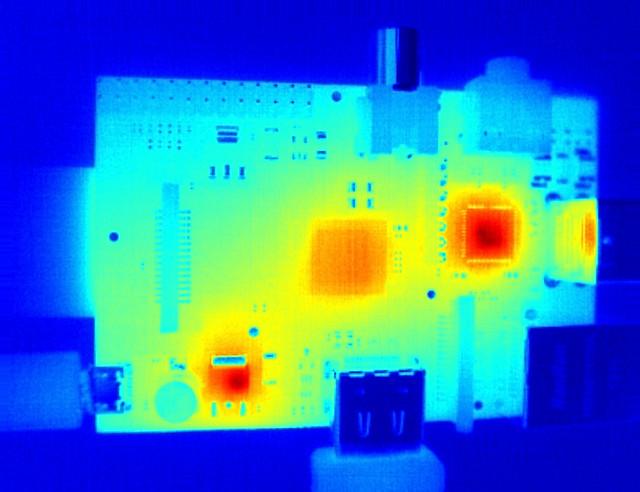 Thermal image of Raspberry Pi model B