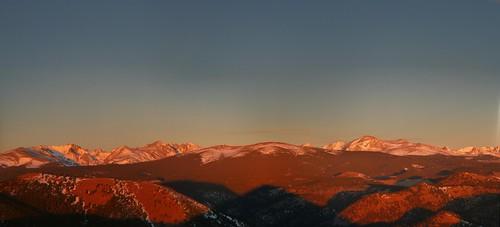 morning blue shadow sky panorama foothills snow mountains sunrise landscape colorado hiking boulder rockymountains baldmountain indianpeaks sugarloafmountain northarapahopeak mountaudubon mountalbion kiowapeak
