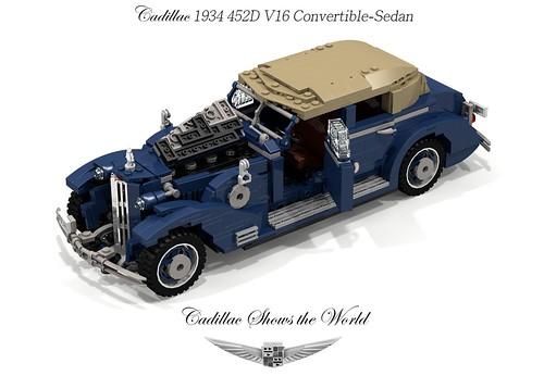 Cadillac 1934 452D V16 Convertible-Sedan