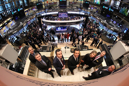FT ringing the Closing Bell at the NYSE | by Financial Times photos