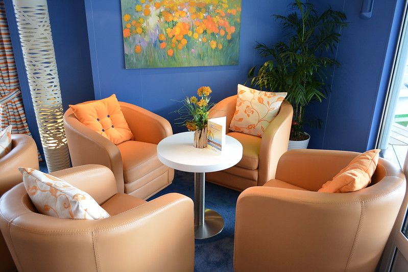 Petit salon - A bord du MS CYRANO DE BERGERAC - Croisieurope - Bordeaux - 16 mai 2013