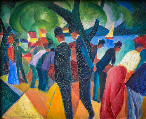 August Macke - Walk on the Bridge, 1913 at Lenbachhaus Art Gallery Munich Germany | by mbell1975