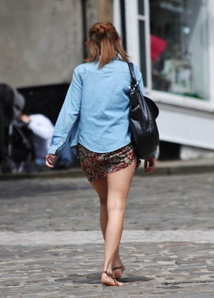 Girls walking candid Shortest Mini