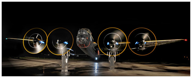 Lancaster Night Engine Run-up
