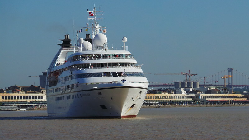 Accostage du MS SEABOURN PRIDE - Bordeaux - 24 septembre 2013