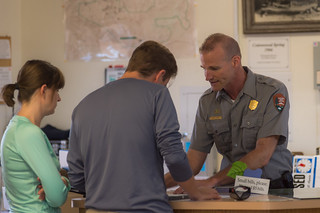 Ranger Keith Flood Helps Visitors at Cottonwood Visitor Center | by Joshua Tree National Park