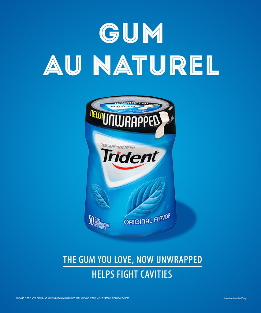 Trident Unwrapped Gum (Triplet) | This project called for th