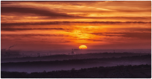 uk morning winter england sky sun industry clouds sunrise canon landscape moor powerstation 6d baildon eggborough 70200f4is canon6d