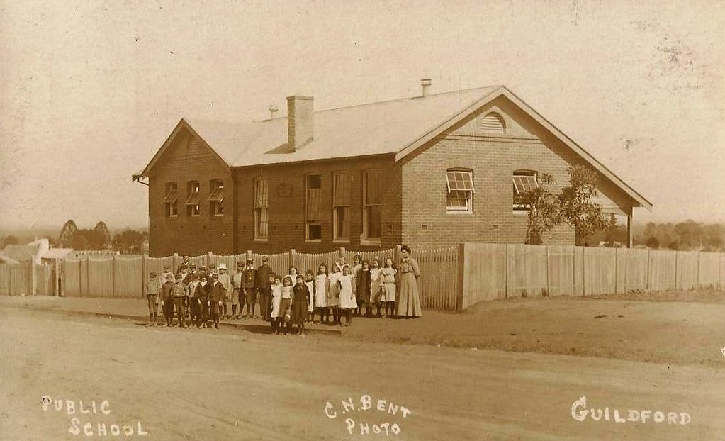 PUBLIC SCHOOL, GUILDFORD, NSW - very early 1900s