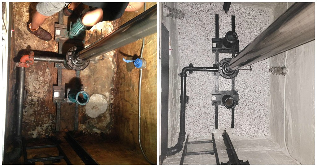 Side by side - Elevator Pit Sealing | theconcreteprotector c