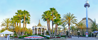 california's great america entrance plaza panorama | by pbo31